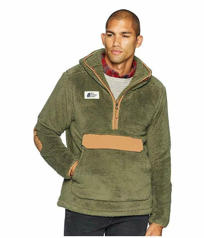 new mens pullover campshire sherpa fleece hoody