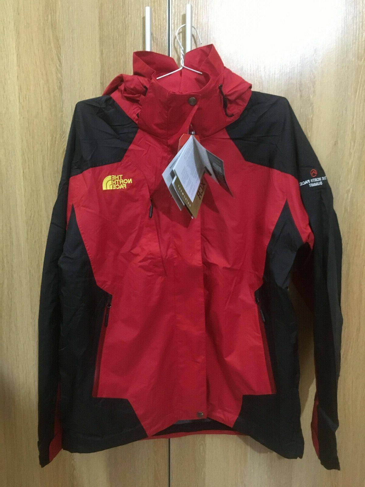 NEW Mens The North Face Rainwear Red Small Goretex Jacket