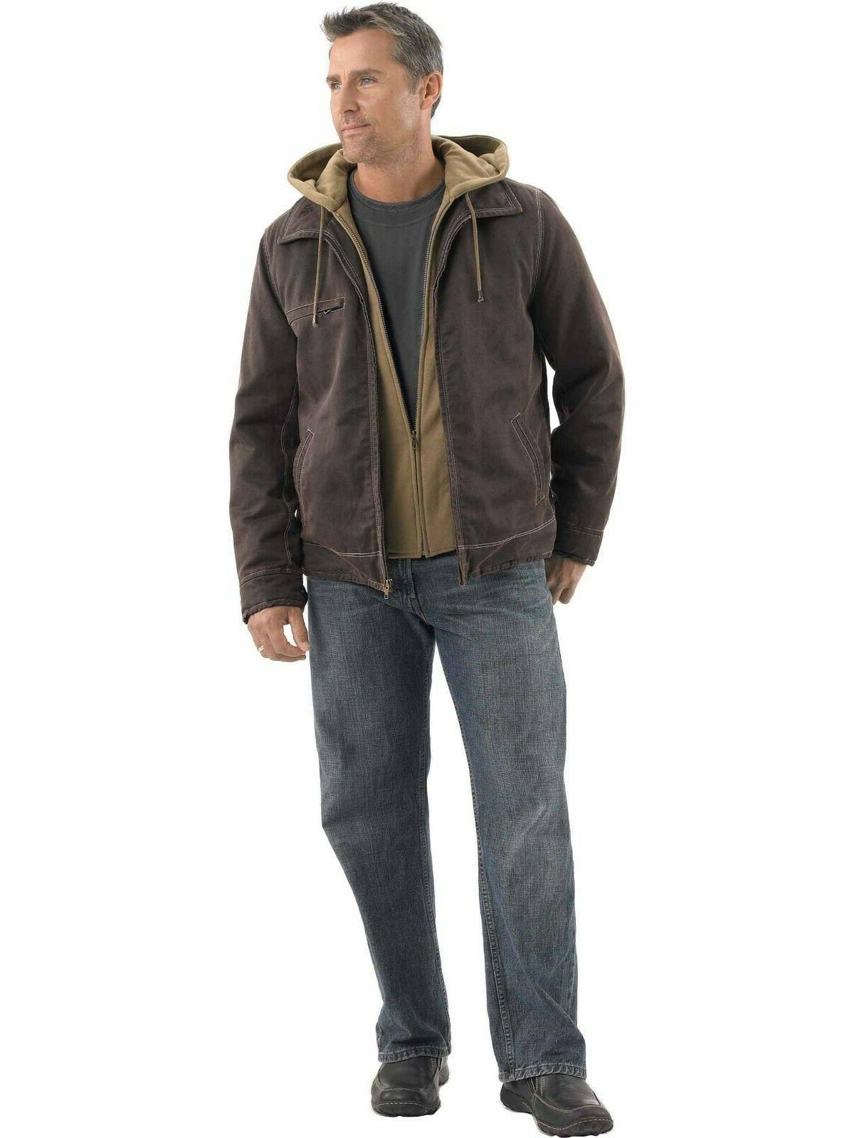 new mens rugged full zip dakota jacket