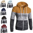 New Plain Mens Hoodie Fleece Zip Up Hoody Jacket Sweatshirt