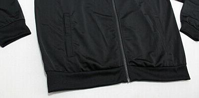 NWT ADIDAS Black Track Runners Zip Jacket