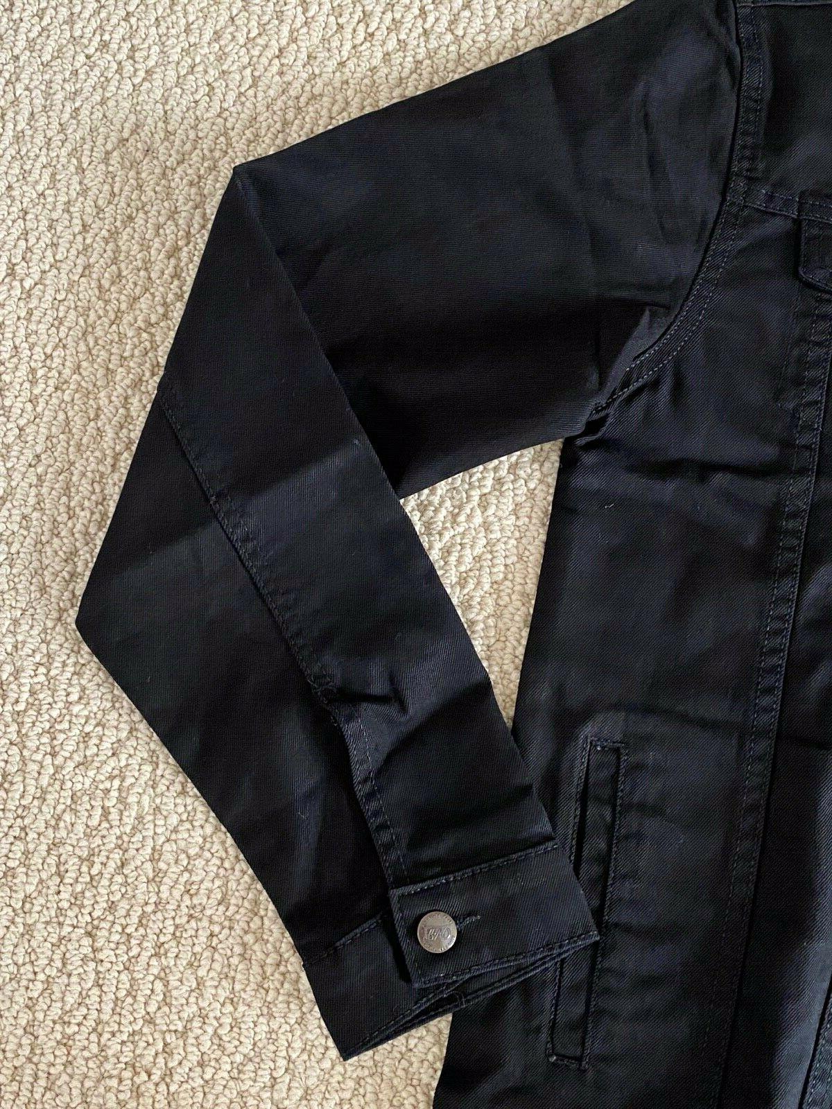 Classic Black Button Denim Jean SIZES