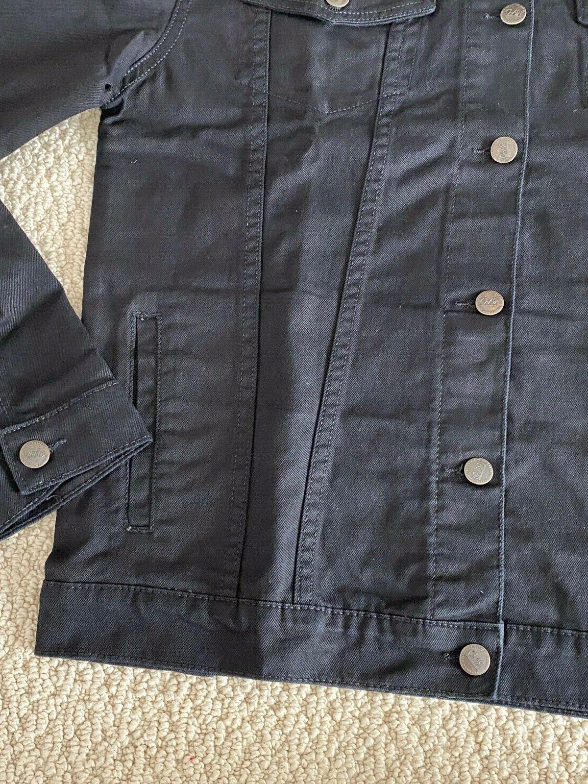 NWT Men's RND Denim Classic Black Denim Jean Jacket SIZES S-2XL