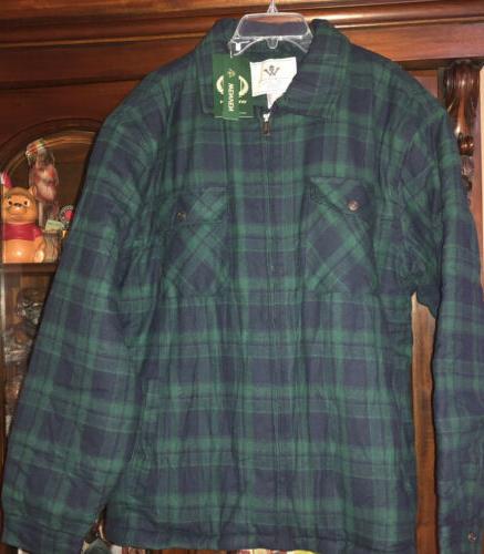 NWT Men's Jacket Zip Fleece Sherpa Lined XL