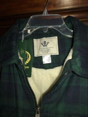 NWT WenVen Jacket Zip Up Fleece Sherpa Heavy XL