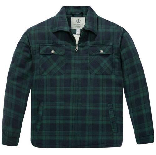 nwt men s flannel jacket zip up