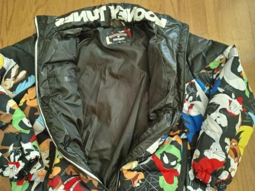 NWT Men's MEMBERS LOONEY TUNES PUFFER SIZE XL