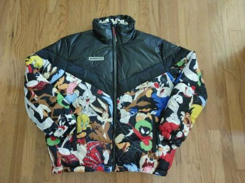 nwt men s looney tunes puffer jacket