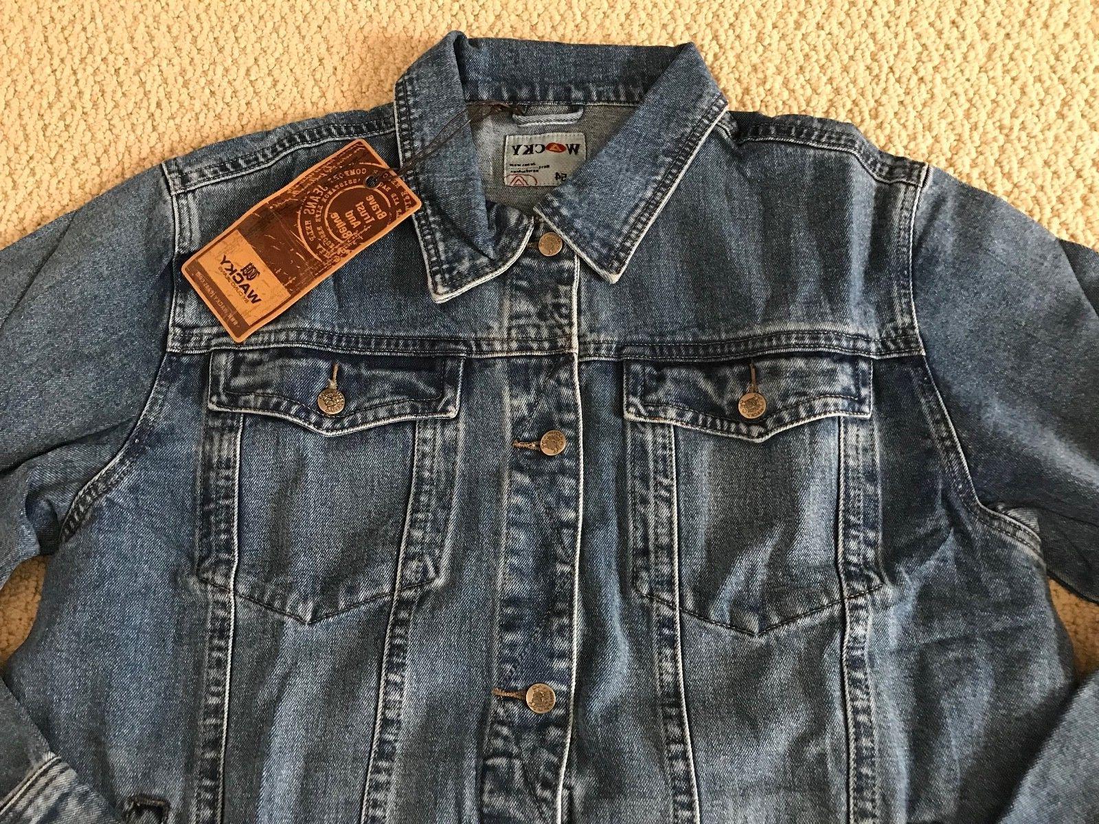 NWT Wear Medium Blue Classic Denim Jacket BIG