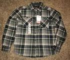 NWT Coleman Men's Sherpa Lined Flannel Shirt Jacket - Olive/