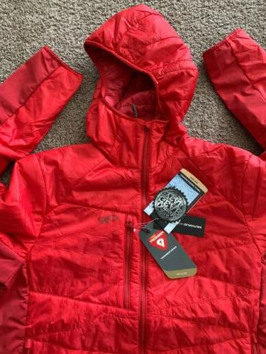 NWT Men's OUTDOOR Cathode Hooded Jacket Quantum Primaloft Red XL