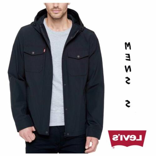 nwt mens levis arctic hooded black jacket