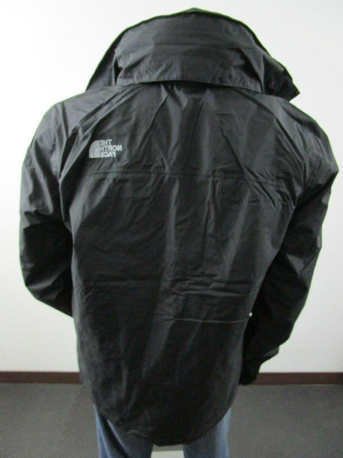 Mens S-M-L-XL North Waterproof Hooded Jacket - Black