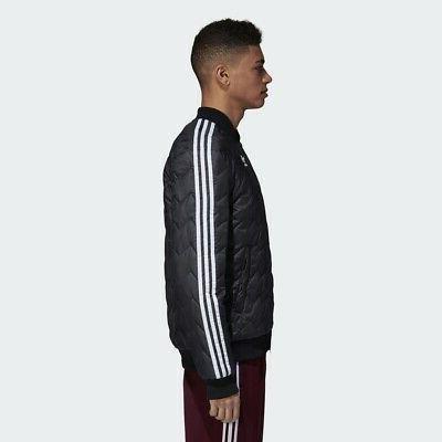 Adidas Originals SST Quilted Jacket Black Trefoil New logo