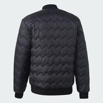 Adidas Jacket Black Men Trefoil New