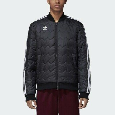 originals sst quilted jacket black men superstar