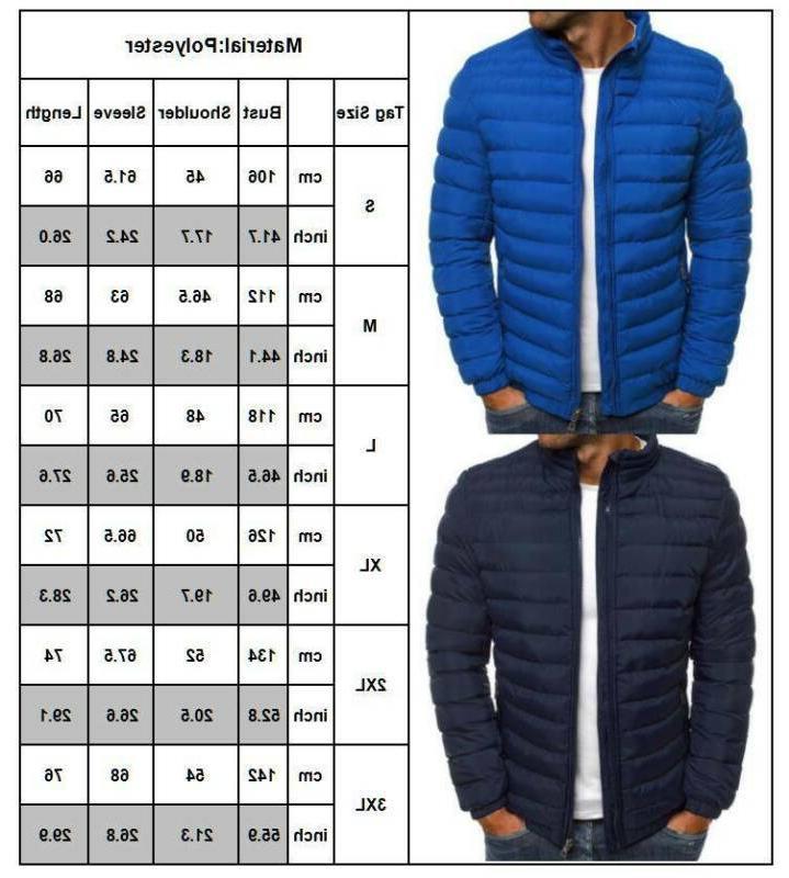 Men's Bubble Coat Quilted Winter