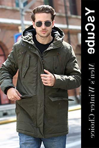 YsCube Mens Jackets for Men Coats for Down Mens Waterproof Outdoor Wear Resistance Parka-S
