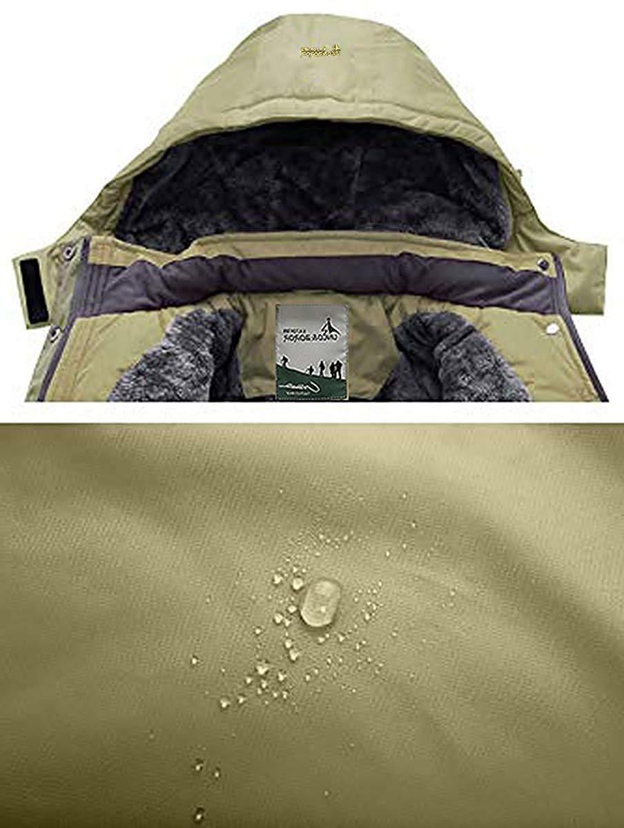 Pooluly Waterproof Rain Snow Fleece
