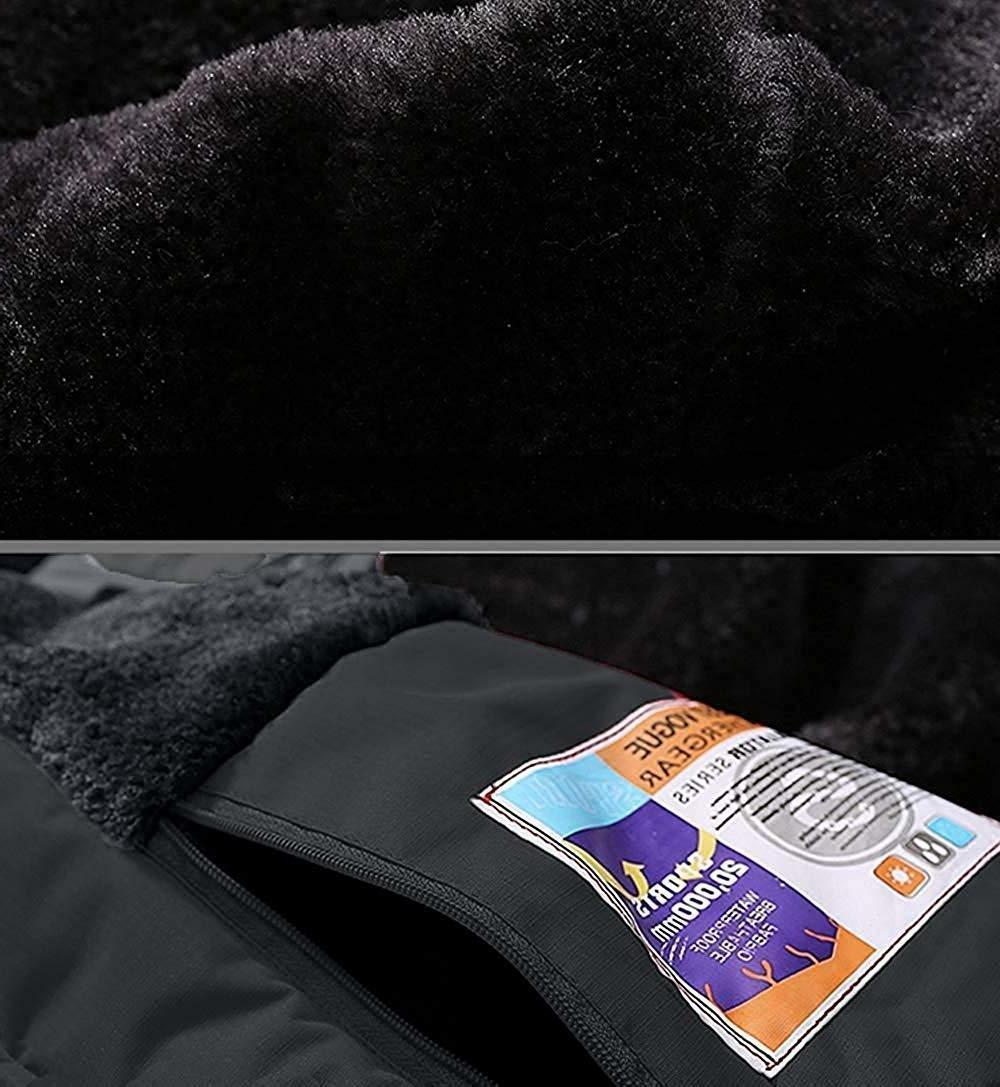 Pooluly Rain Snow Hooded Fleece Ski Coat