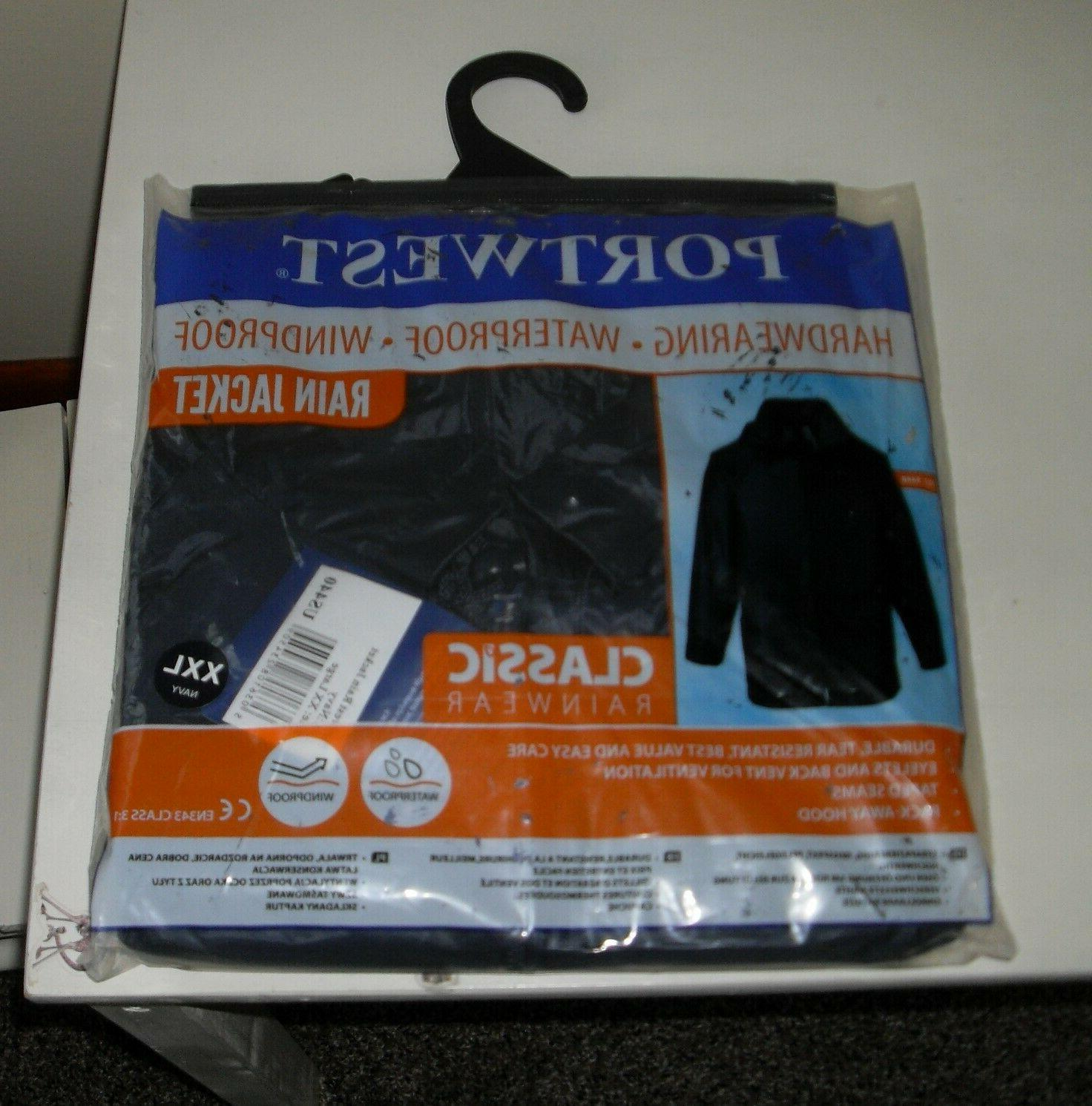 rain jacket men s size xxl navy