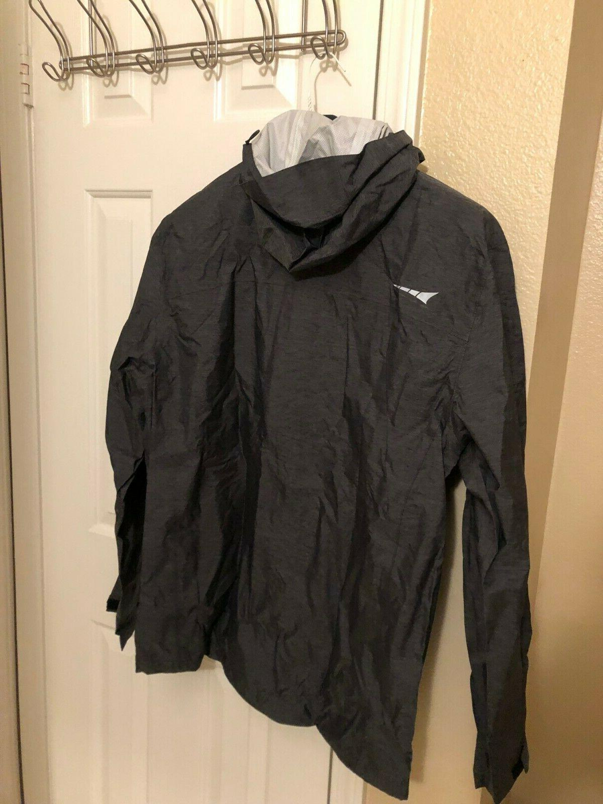 Paradox Rain Jacket Black Large Hooded Brand