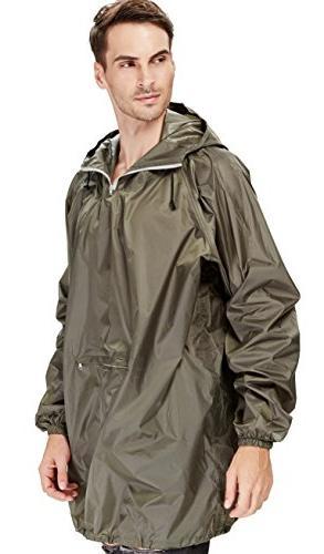 4ucycling Raincoat Easy Rain Coat Poncho in Army