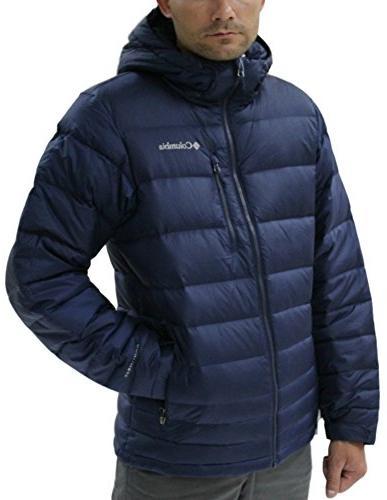 ridge hooded down jacket