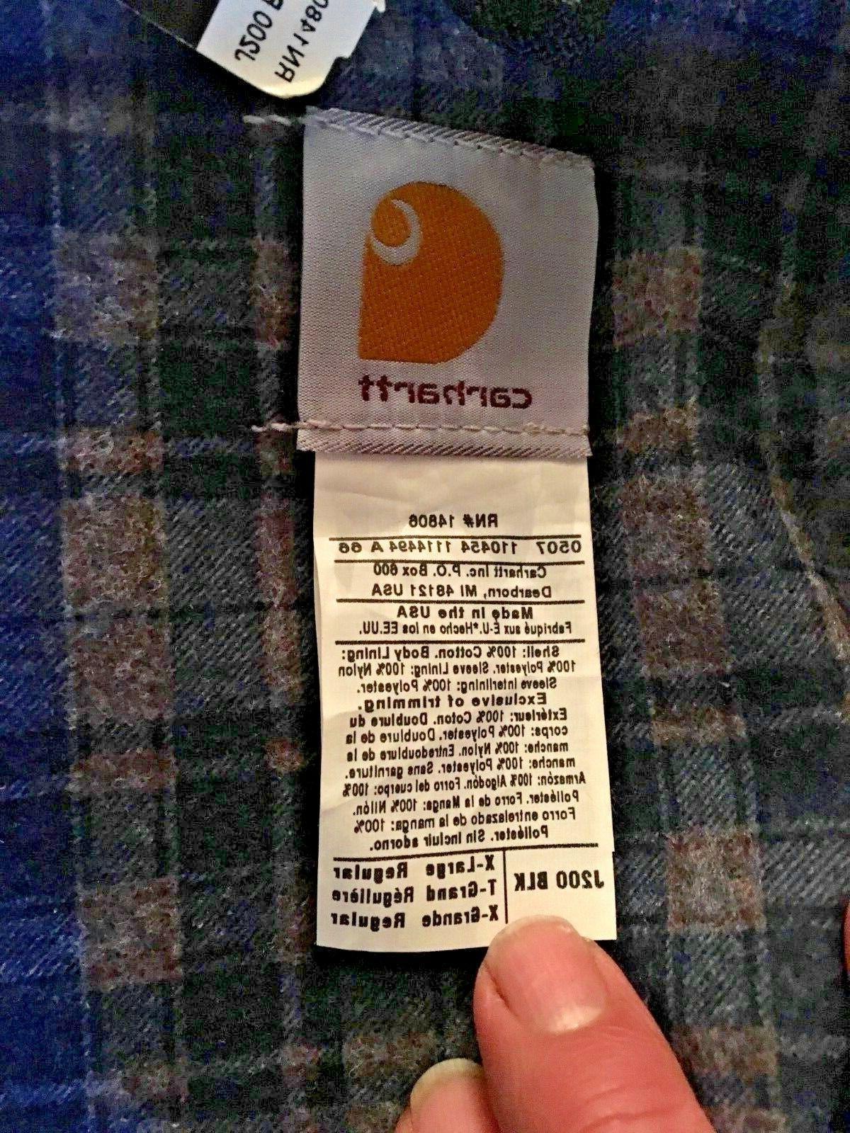 CARHARTT RN14806 Lined Tags Vintage