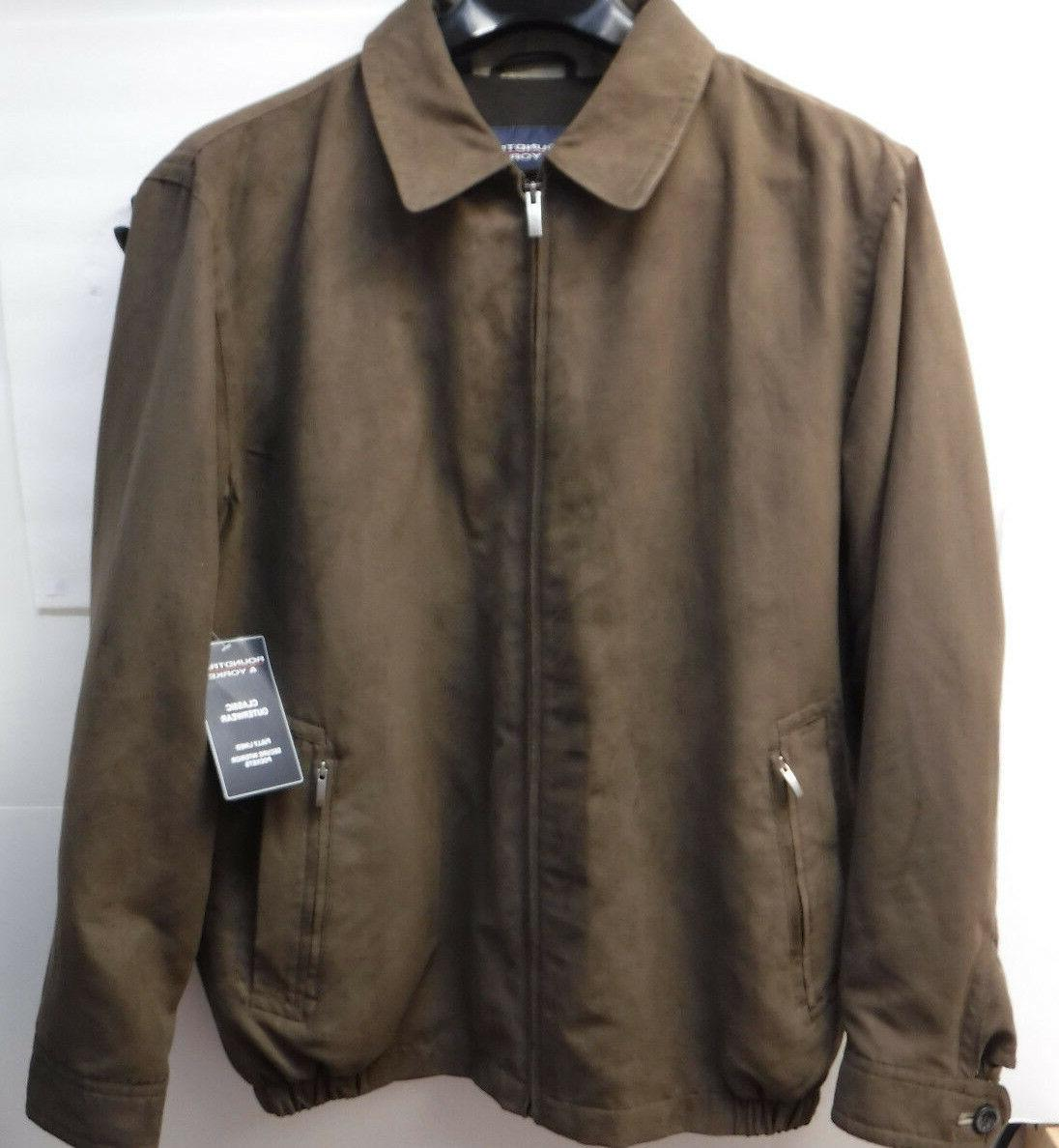 roundtree and yorke outerwear brown size lt