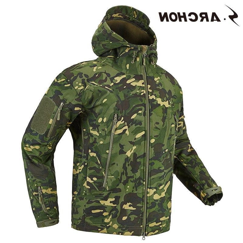 S.ARCHON <font><b>Soft</b></font> Shell Military <font><b>Men</b></font> Fleece Clothing Multicam Camouflage <font><b>Men</b></font>