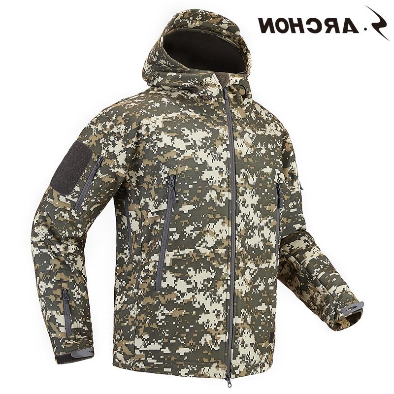 S.ARCHON Shell Tactical Military <font><b>Men</b></font> Waterproof Army Clothing Multicam Camouflage <font><b>Men</b></font>
