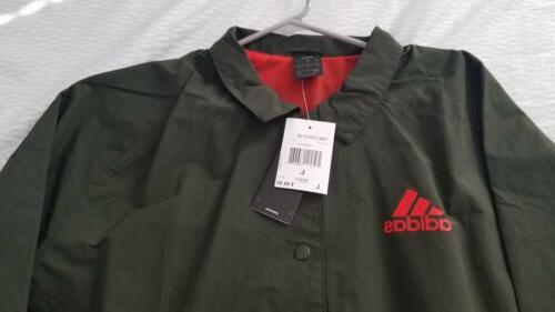 ADIDAS SOCCER JACKET Green Men's Size