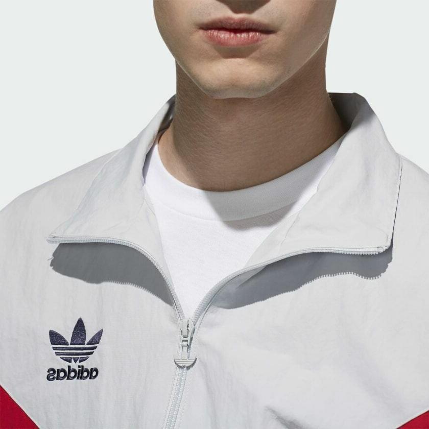 adidas Track | Men's Grey/Red/Blue EJ0947