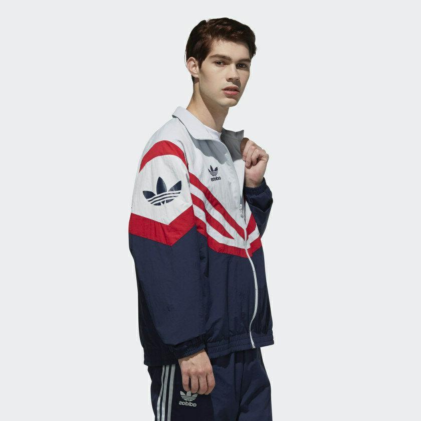 adidas Track Jacket | L 90's Grey/Red/Blue EJ0947