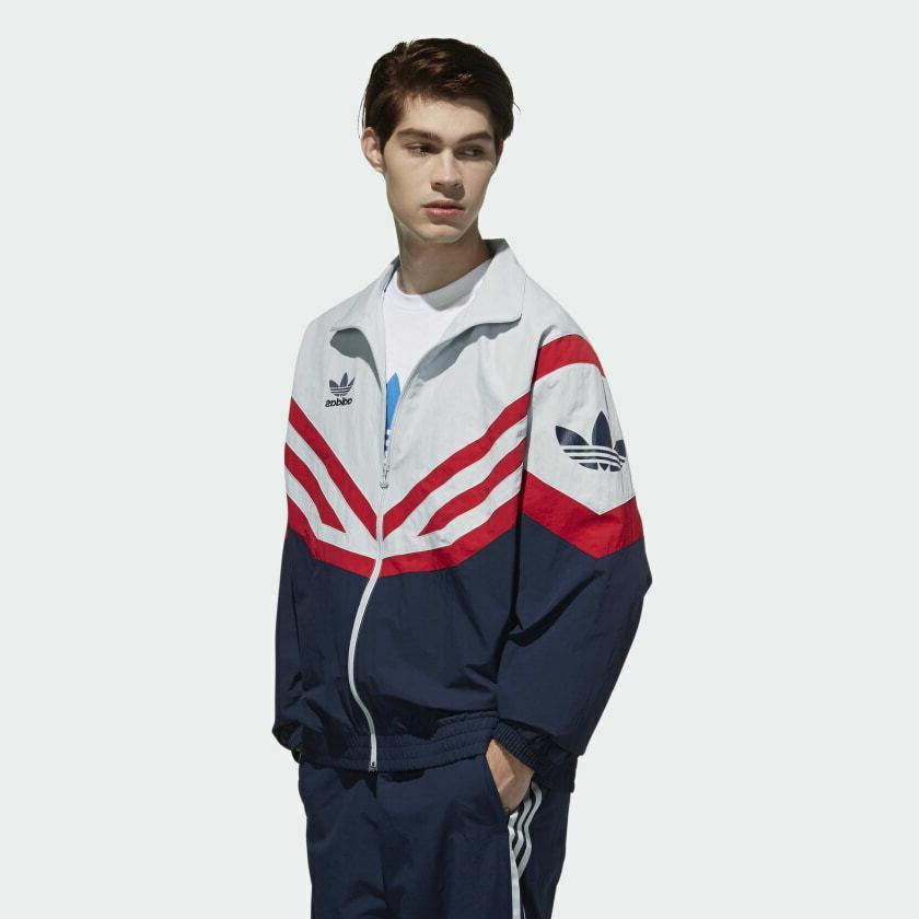 adidas Sportive Track Jacket | L Grey/Red/Blue