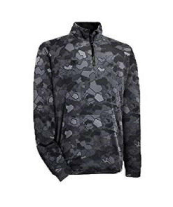 Champion Men's Tech Fleece Printed 1/4 Zip Pullover Stormy N