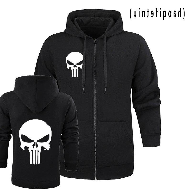 the punisher skull hoodies font b men