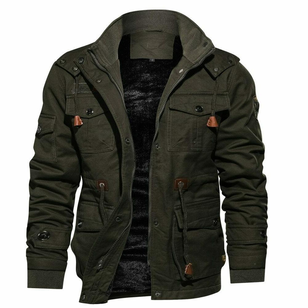 Thick Men Military Tactical Jacket Hooded