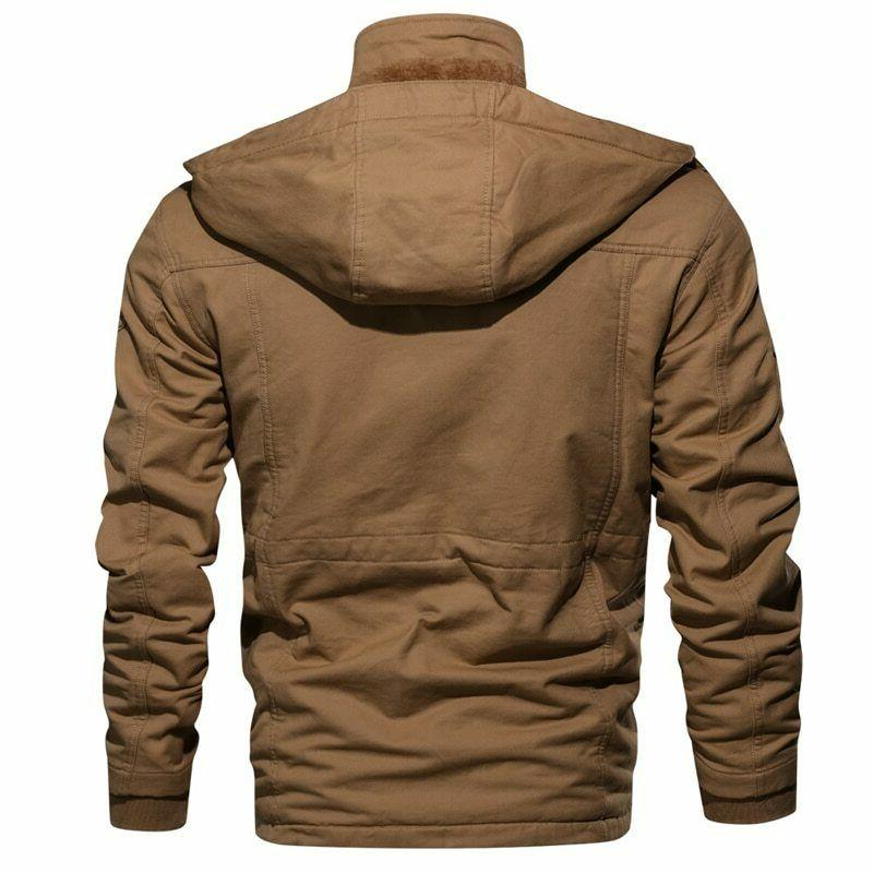 Thick Men Military Tactical Army Jacket Hooded Masculina