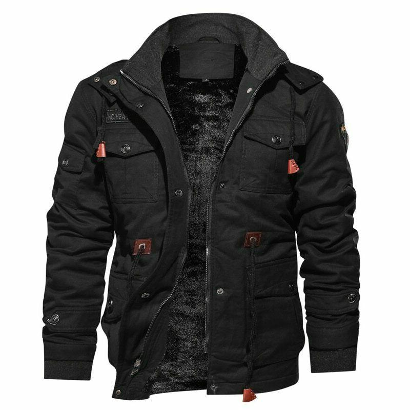 thick winter fleece jackets men military tactical