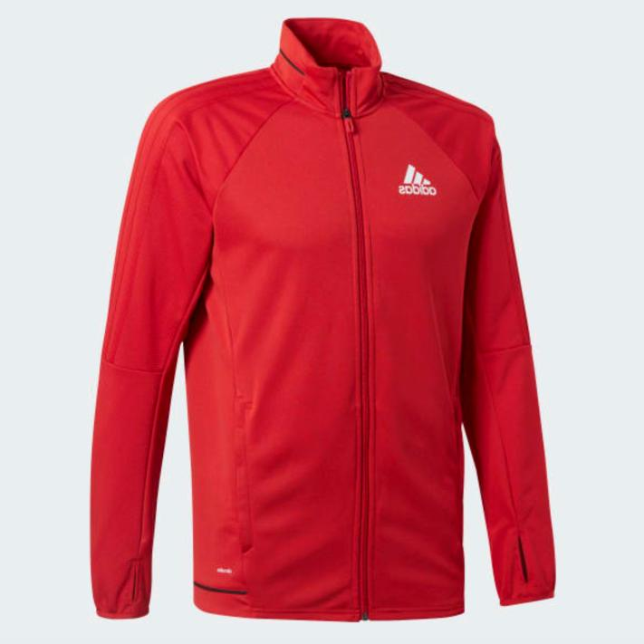tiro 17 training soccer track jacket red