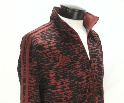 track jacket originals 3 stripe burgundy black