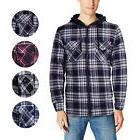 U.S. Life Men's Zip Up Plaid Checkered Quilted Flannel Sweat