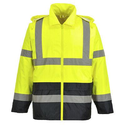 Portwest UH443 High-Vis Classic Contrast Rain Jacket with pa