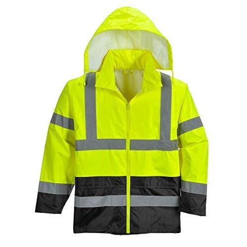 Portwest UH443YBRXXL Hi-Vis Rain Jacket,