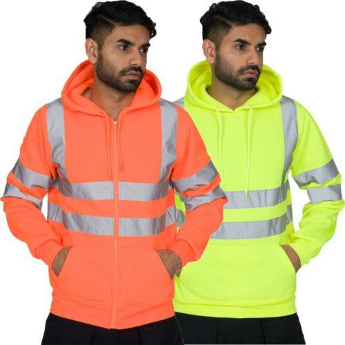 US Sweatshirt Jumper PullOver Fleece Hoodie Safety