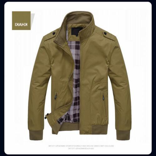 US Coats Jackets Classic Slim Outerwear Windbreaker