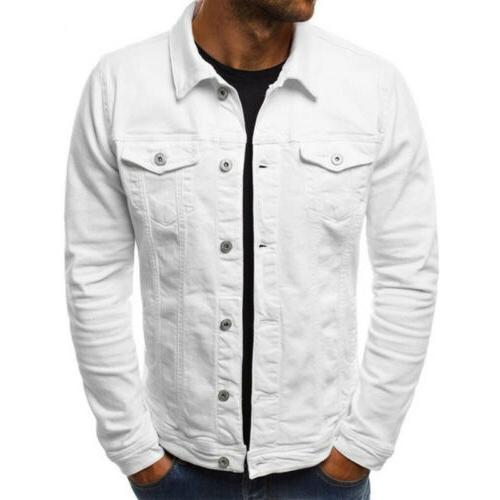 Men's Denim Jacket Jean Cargo Single Casual