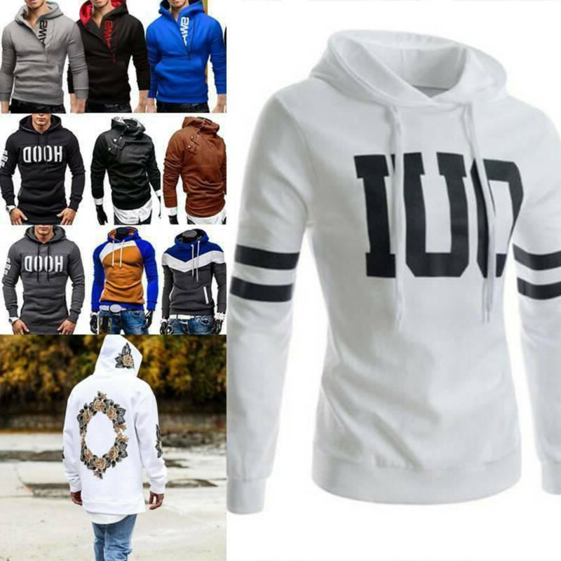 us men winter pullover hoodie warm hooded